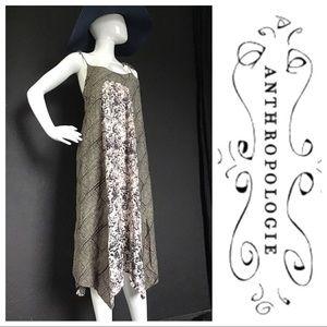 Anthropologie Maeve Floral Print Maxi Dress